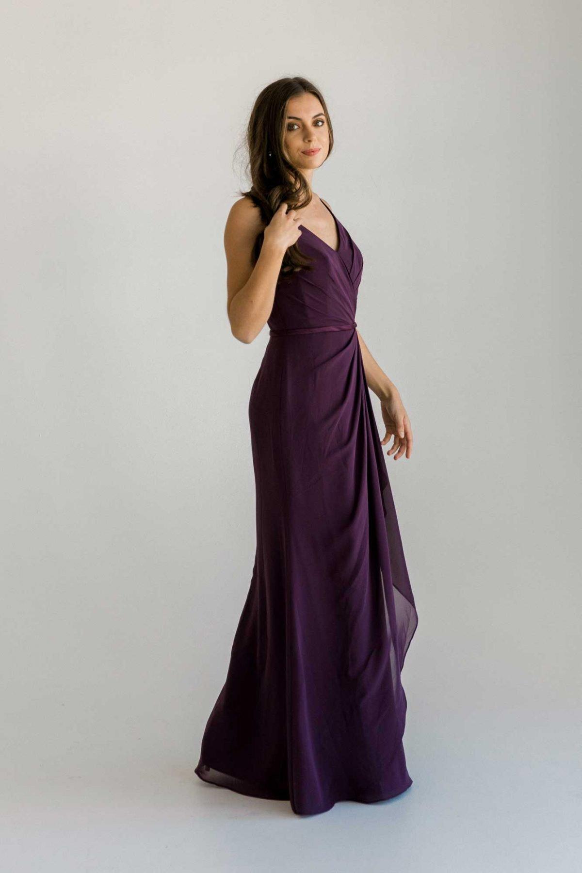 Luna dress in grape colour