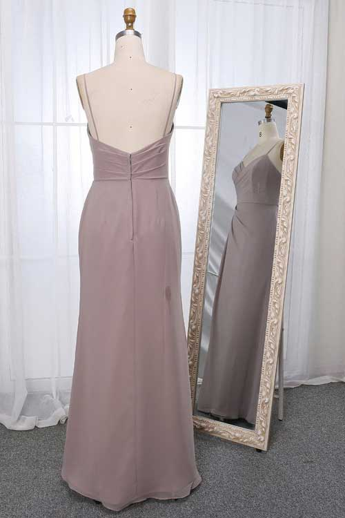 Stella dress in stone colour back view