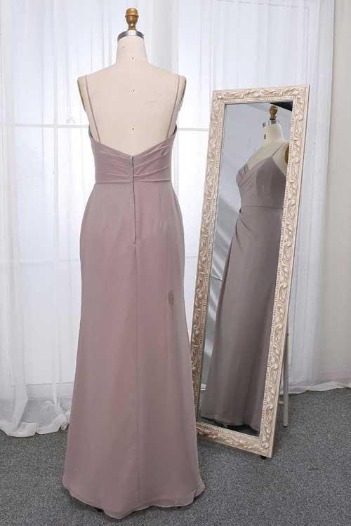 Stella dress in stone colour back view