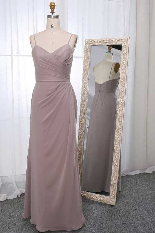 Stella dress in stone colour front view