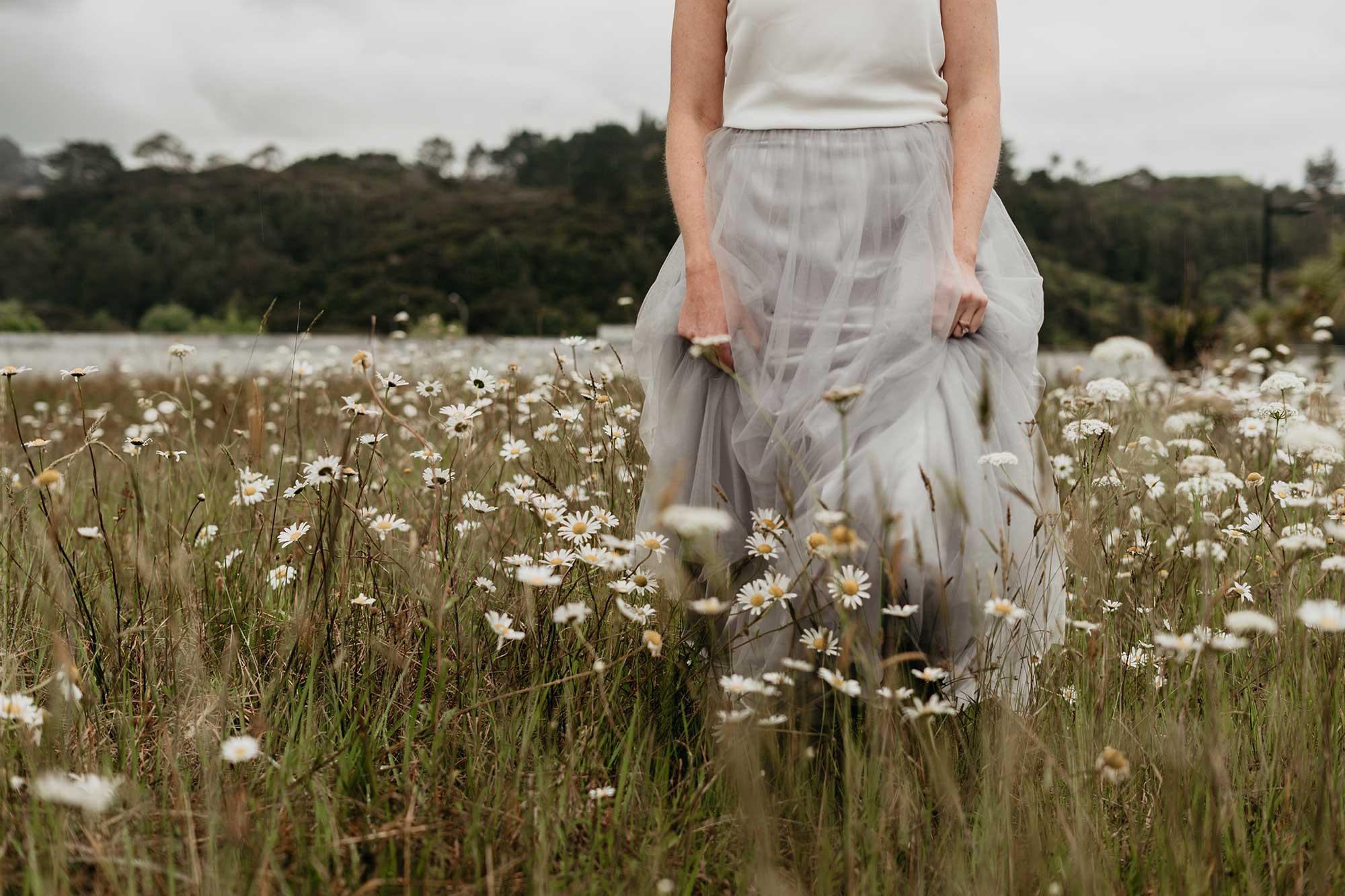 <strong>Featuring:</strong> Fleur Tulle Skirt in Dove