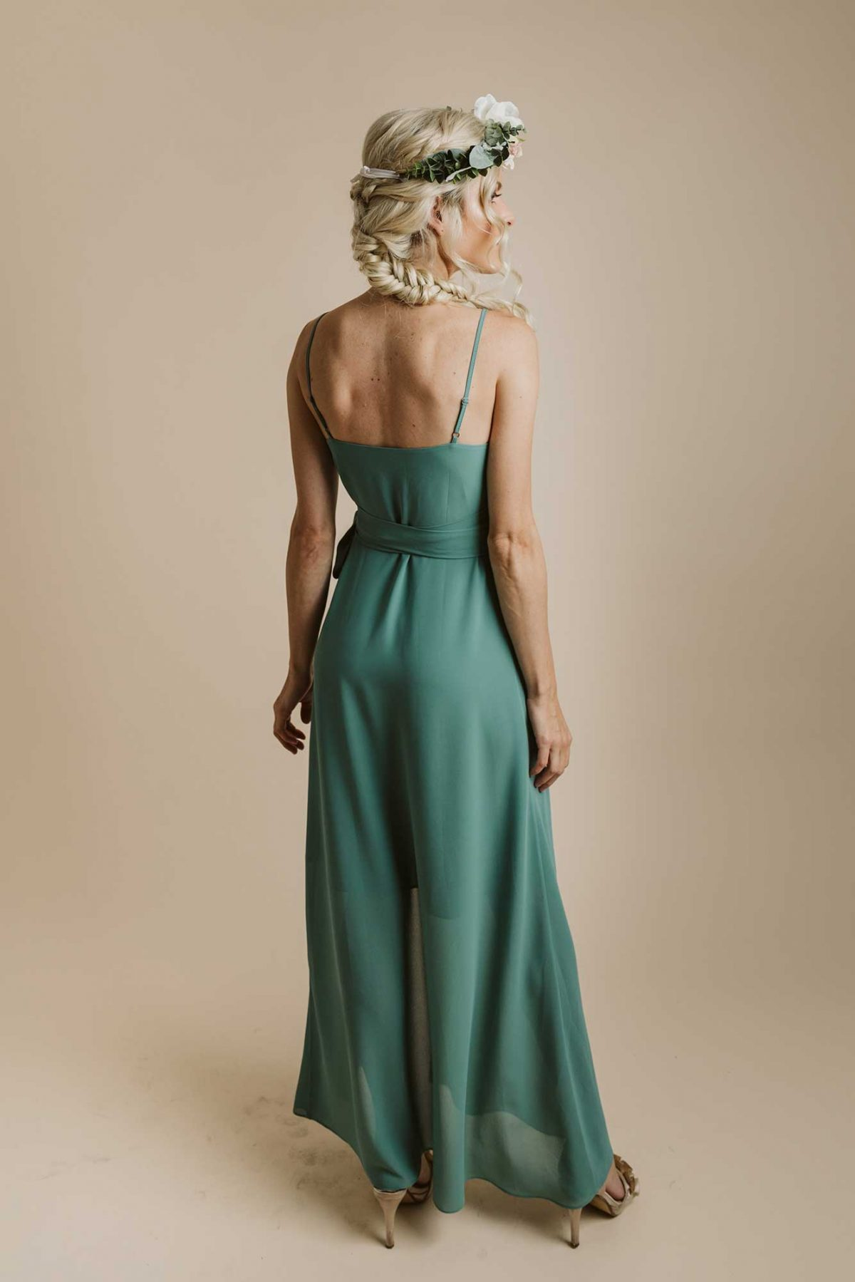 Lucinda dress in clover colour back view