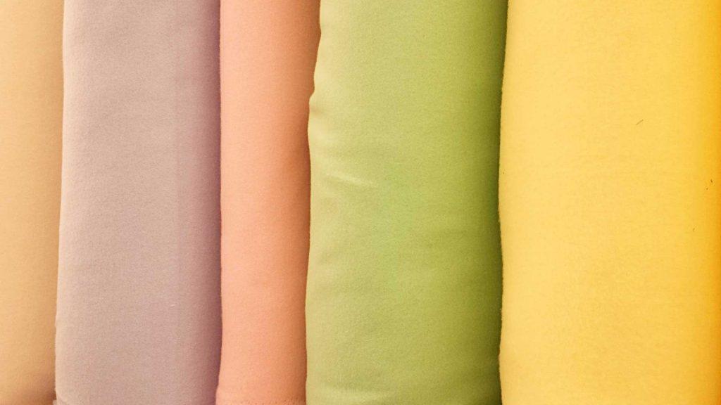 different pastel colour fabric