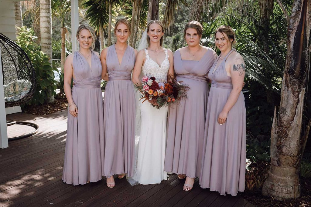 <strong>Featuring:</strong> Evelyn Infinity dress in Dusty Purple colour
